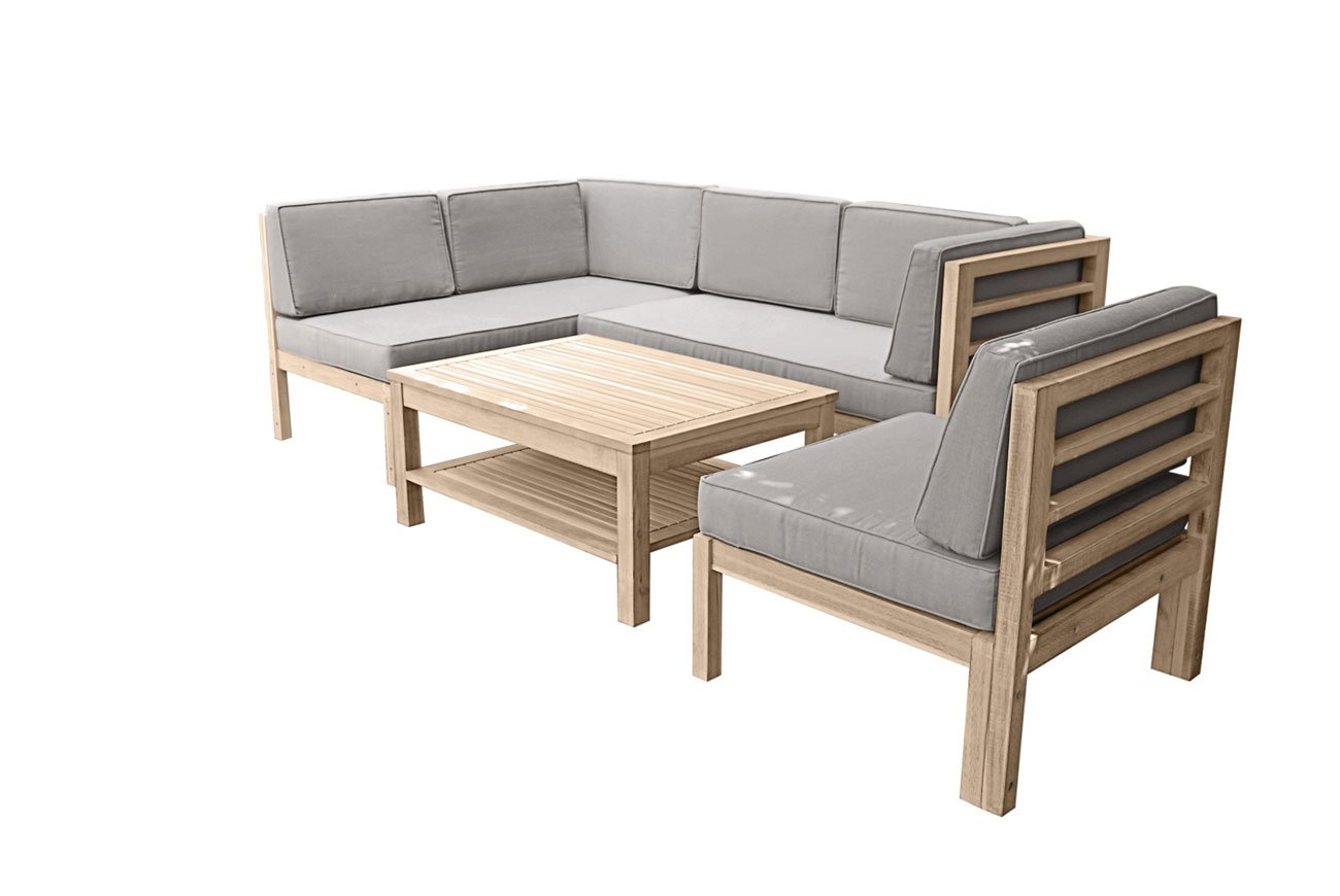 Amazon.de: OUTLIV. Loungemöbel Holz Skagen Loungegruppe Design ...
