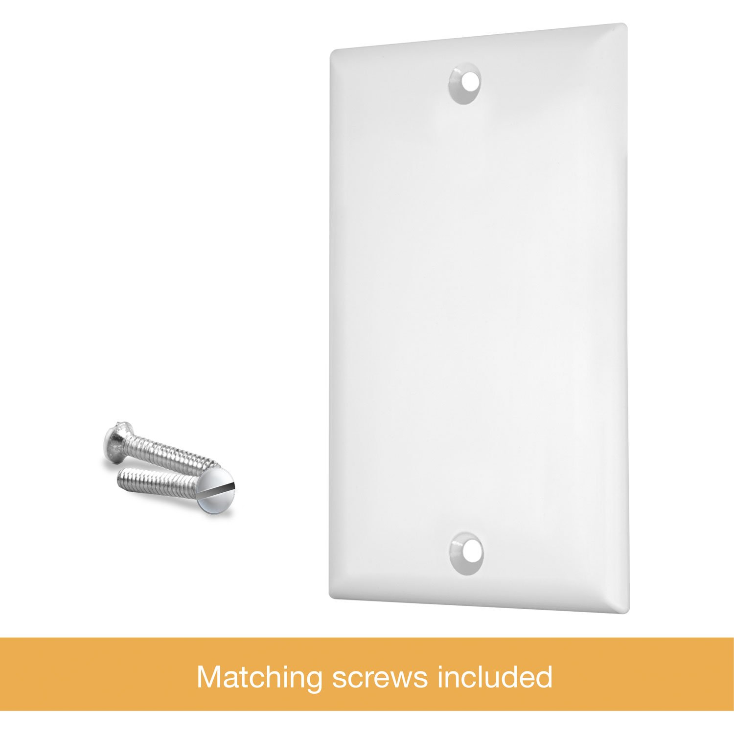 Enerlites 8801-W-10PCS Blank Cover Wall Plate, Standard Size 1-Gang, Polycarbonate Thermoplastic, White (10 Pack) by Enerlites (Image #8)