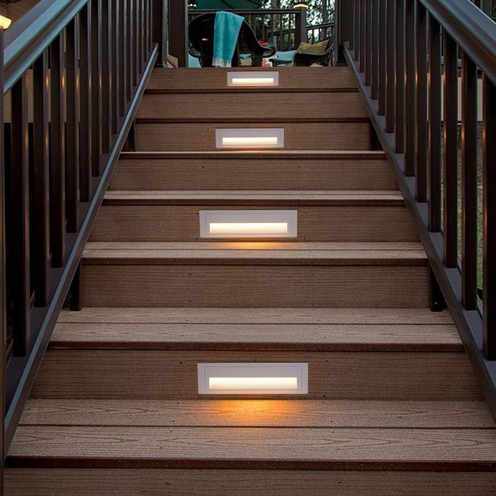 Foco led empotrable de pared de 5 W, para escaleras, para exteriores, 550 lm, IP65, blanco cálido (3000 K) 5.00W 220.00V: Amazon.es: Iluminación