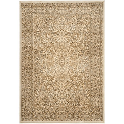 Safavieh Paradise Collection PAR169-3444 Stone and Cream Viscose Area Rug (8' x 11'2