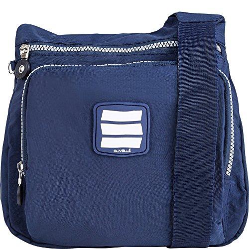 Suvelle - Bolso al hombro para mujer multicolor Multi Colored azul marino