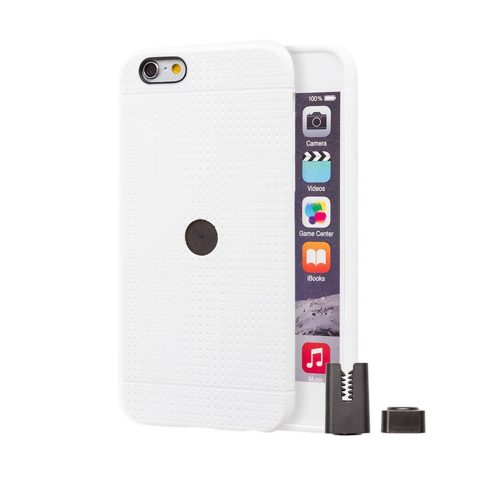 STIKGO Funda TPU Carclip iPhone 6 / 6S Blanca