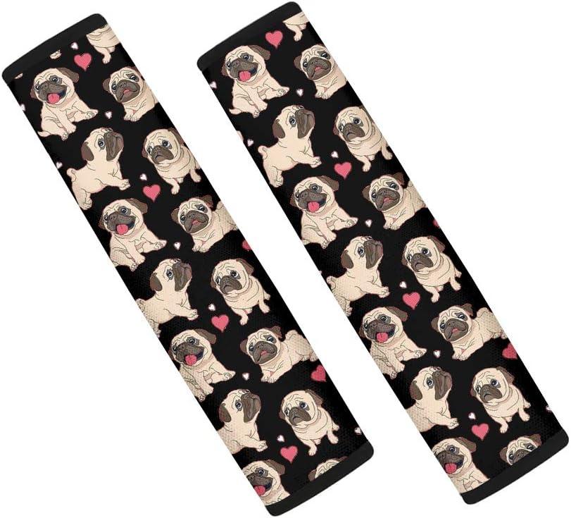 Animal Puppies Paws Bone Pattern Soft /& Comfort Seatbelt Shoulder Straps Pads Cover PZZ BEACH Cute Car Accessories 2 Pcs Safety Seat Belt Pads