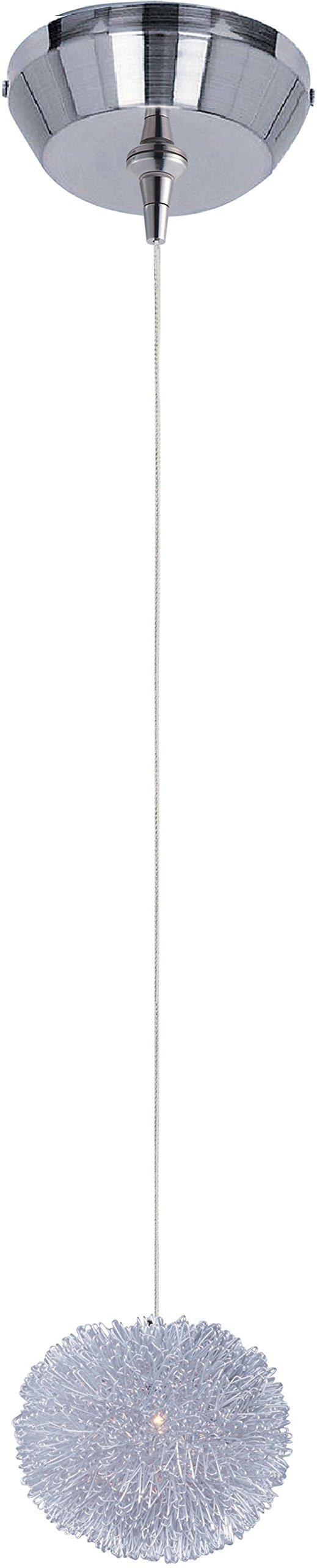 ET2 Lighting 94320 Clipp Mini Pendant Fixture, Brushed Aluminum Finish, 5 by 8.15-Inch