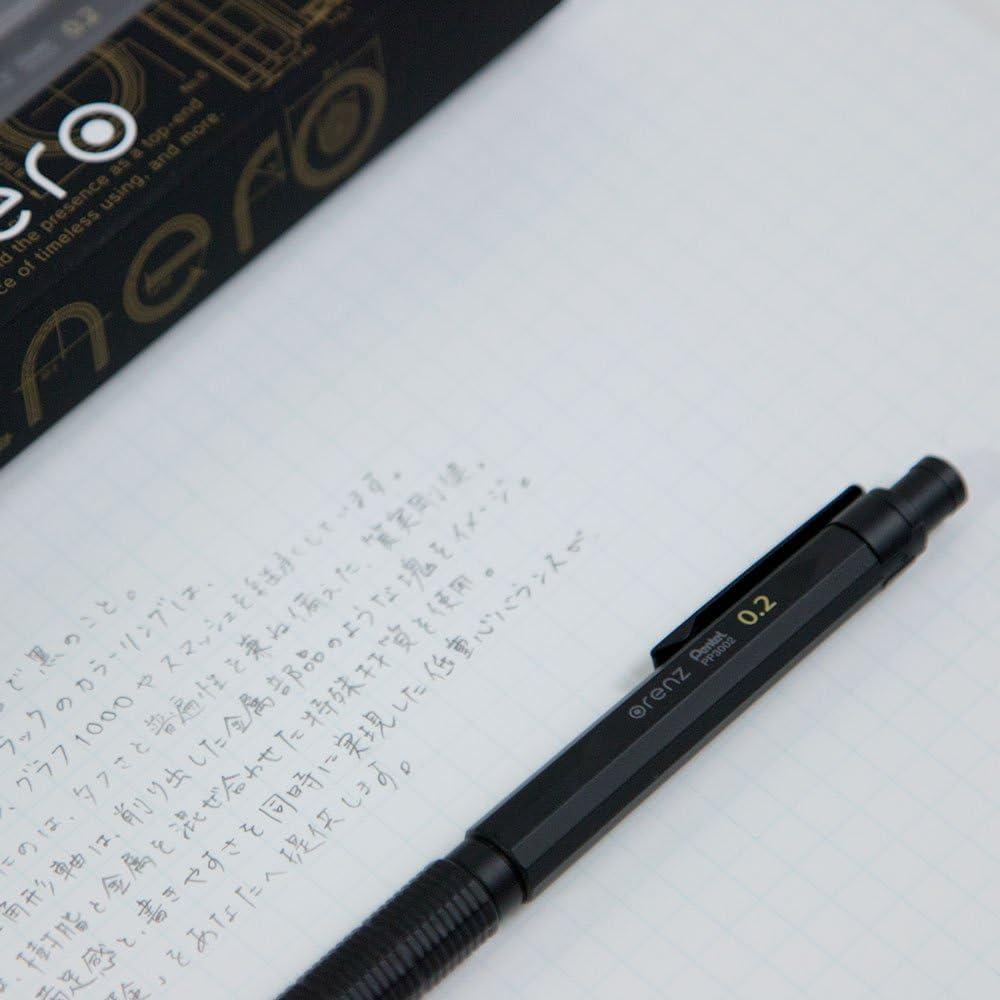 Pentel Mechanical Pencil Orenz Nero 0.2mm Black Body PP3002-A