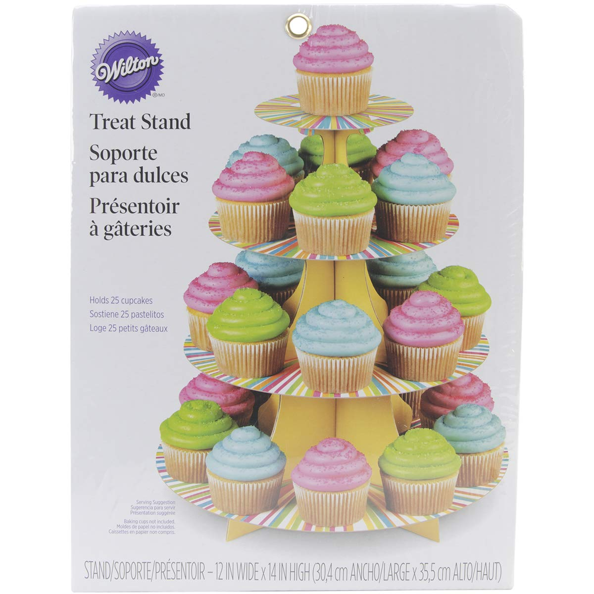 Amazon.com: Wilton 1512-0726 Treat Stand Color Wheel Cupcake Stand: Kitchen & Dining