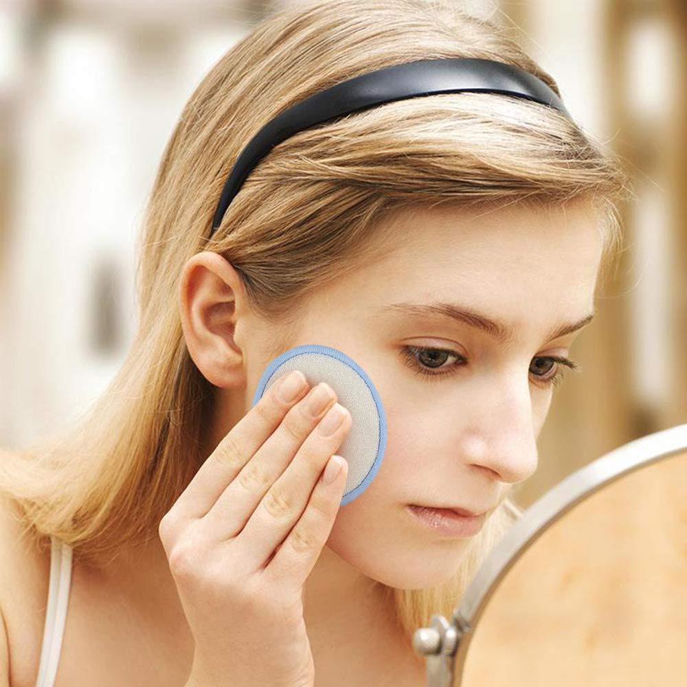 16 Piezas Reutilizables y Lavables Fibra de Bamb/ú Discos Desmaquillantes Faciales Almohadillas Cosm/éticas con Bolsa de Lavado BelleStyle Almohadillas Desmaquilladoras de Maquillaje