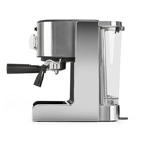 Klarstein Passionata 15 Máquina de café espresso • Cappuccino • Capacidad para 6 tazas • Depósito extraíble • Boquilla de vapor • Espumadora de leche ...