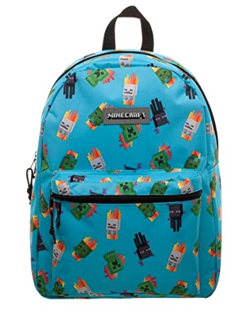 8e81fe17af ... Rucksack Waterproof Book Creeper Storage Bag Sports. Minecraft Enemy  All Over Toss Print Licensed Adult Backpack School Book Bag Gym
