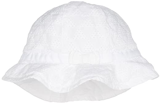 Tommy Hilfiger Geo Shiffley Baby Girl Bucket, Bonnet Mixte Bébé, Blanc  (Classic White