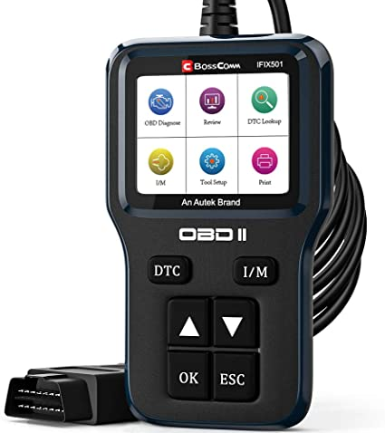 Amazon Com Universal Car Code Reader Enhanced Autek 501 Obd2 Scanner With Battery Check Read Erase Fault Code I M Readiness Freeze Frame Car Info Datastream For All Obdii Vehicles After 1996 Upgrade Version