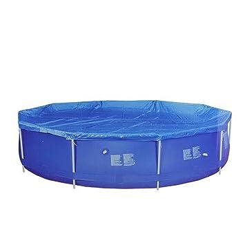 Amazon.com : 14.25\' Durable Blue Apertured Round Swimming ...