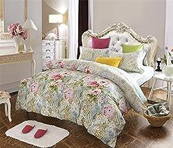 Joybuy Home Textile 100% Long Staple Cotton Boho Bedding Bohemian Bedding Exotic Bedding Set Queen Egyptian Cotton Duvet Cover