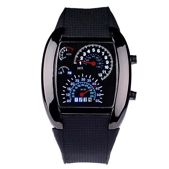 Reloj de pulsera deportivo RPM Turbo Flash LED para hombres: Amazon.es: Relojes