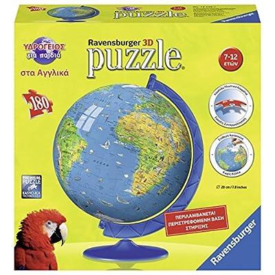 Ravensburger 12336 Mappamondo Greco 180 Pezzo Di Puzzle Palla Per Bambini Di Apprendimento Puzzle