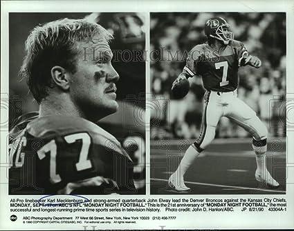premium selection d6a26 f153c Amazon.com: Vintage Photos 1990 Press Photo Denver Broncos ...