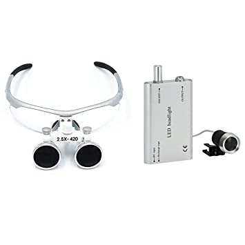 Magnifier Dental 3,5X Y 2,5 X 420 Mm Loupes Dentales ...