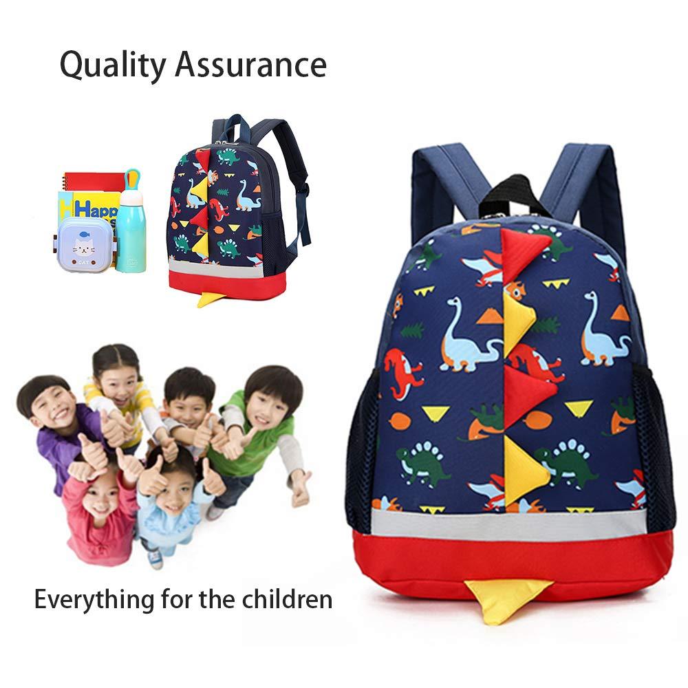 Kids Backpack Dinosaur Children Rucksack Toddler Kindergarten School Bags for 2-5 Boys Girls Blue