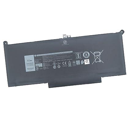 Dentsing F3YGT battery for Dell Latitude 7280 Latitude 7480 DM3WC 0DM3WC  2X39G 7 6V 60Whr