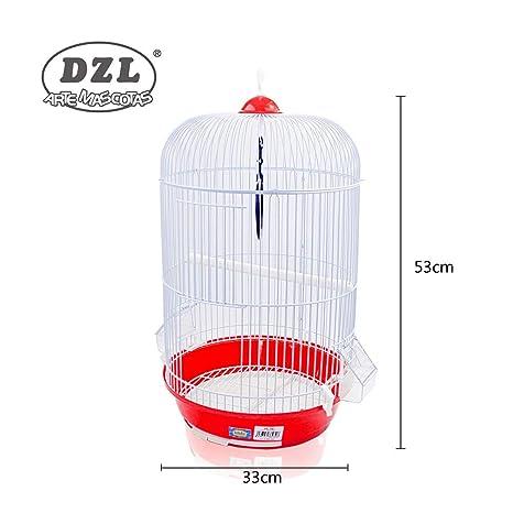 DZL® Jaula para Pajaros Pequeños Y Medianos 33x53cm (Rojo): Amazon ...
