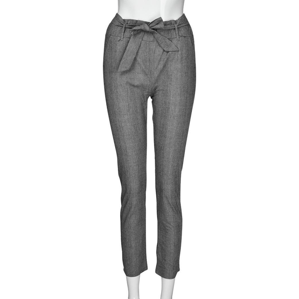 Pantalones de har/én de cintura alta para mujeres Pantalones de cintura para mujer Bowtie el/ásticos mujer pantalon corto★Longra
