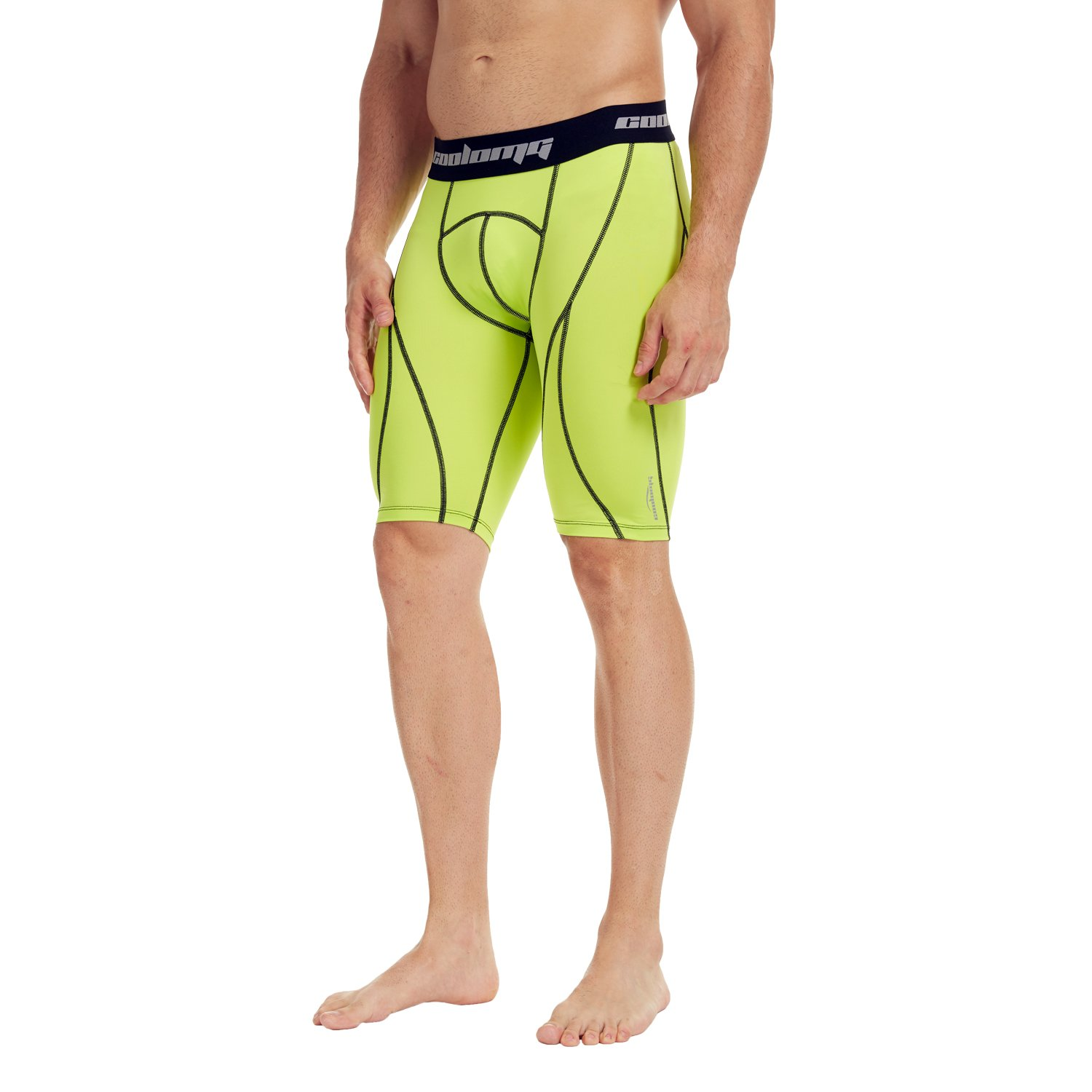 COOLOMG Men's Compression 9 Shorts Underwear Tight Pants Baselayer Cool Dry 10+ Colors