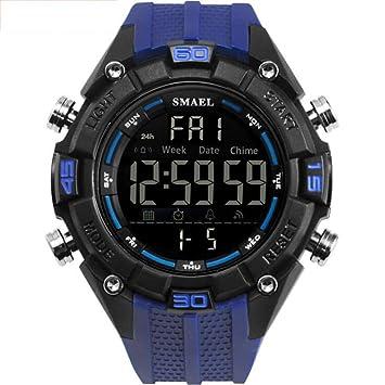 TX ZHAORUI Hombres Relojes electrónicos al Aire Libre Deportes Impermeable Digital de un Solo Color luz Nocturna Multifuncional Mesa Militar,#5: Amazon.es: ...
