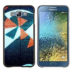 - be cool just gold fabric pattern minimalist - - Modelo de la piel protectora de la cubierta del caso FOR Samsung Galaxy E7 E7000 RetroCandy