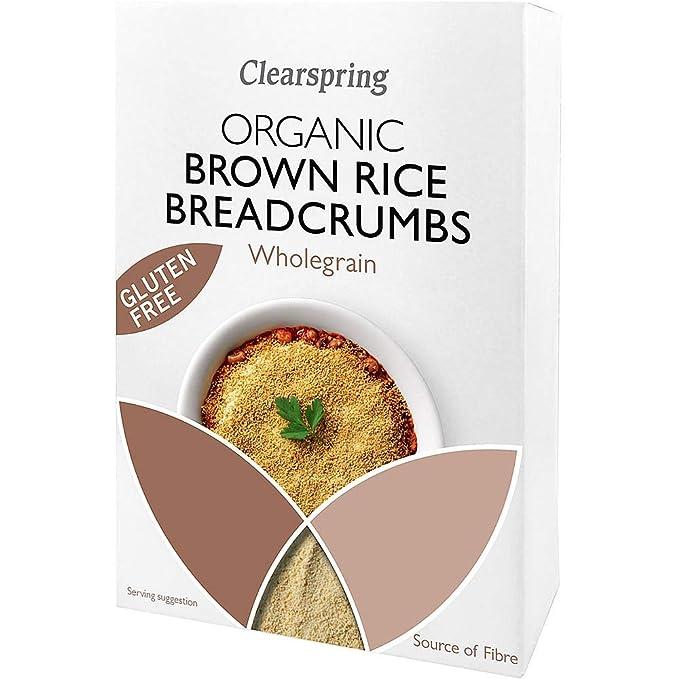 Clearspring Orgánica Sin Gluten Arroz Integral Pan rallado ...