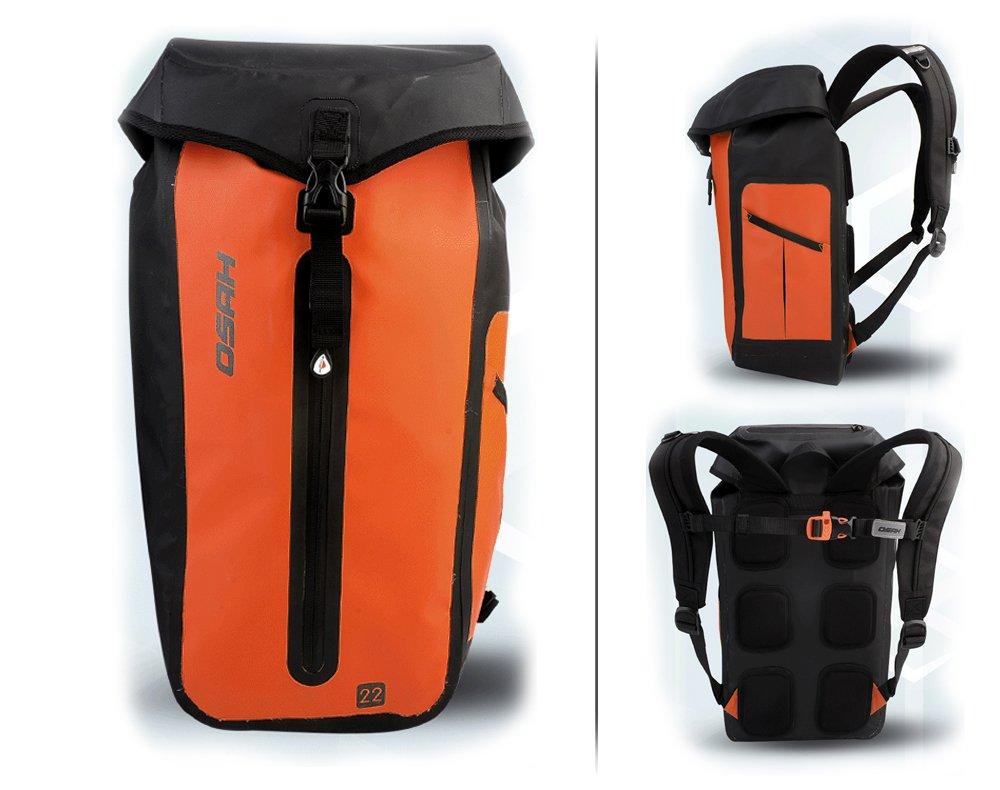 CYCLINGNET 防水(IPX6) パック DRY PAK バックパック サイクリングツーリングカヤックハイキング用 (B14605-22L)  オレンジ B016BE3MMG