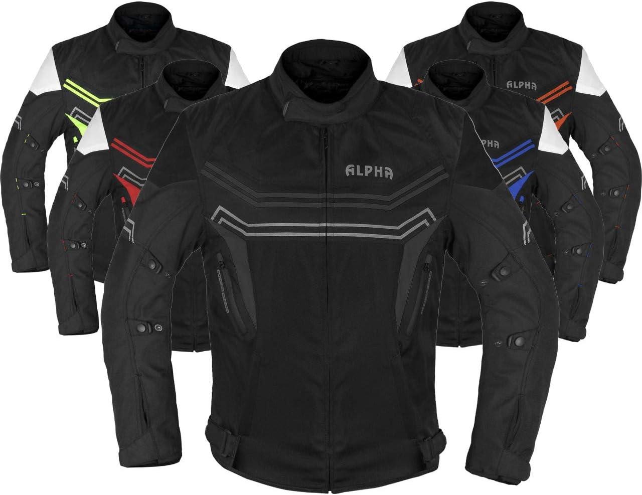 ALPHA CYCLE GEAR MOTORCYCLE ALL SEASON JACKET (BLACK, LARGE): Automotive