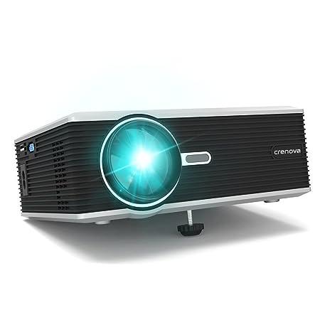 Proyector, Crenova XPE470 Proyector Video HD Home Cine 1200 lúmenes Soporte 1080P USB / HDMI / SD / VGA Gaming Multimedia para el iphone / ipad / ...