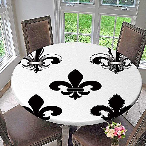 PINAFORE HOME Picnic Circle Table Cloths Vector Lily Flower Heraldic Emblem Royal Fleur de lis Fleur de LYS Symbol Set for Family Dinners or Gatherings 63