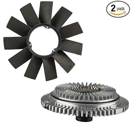 Amazon.com: Engine Fan Clutch + Fan Blade Kit for BMW E36 E46 E53 E34 E39 323i 325i X5 528i: Automotive