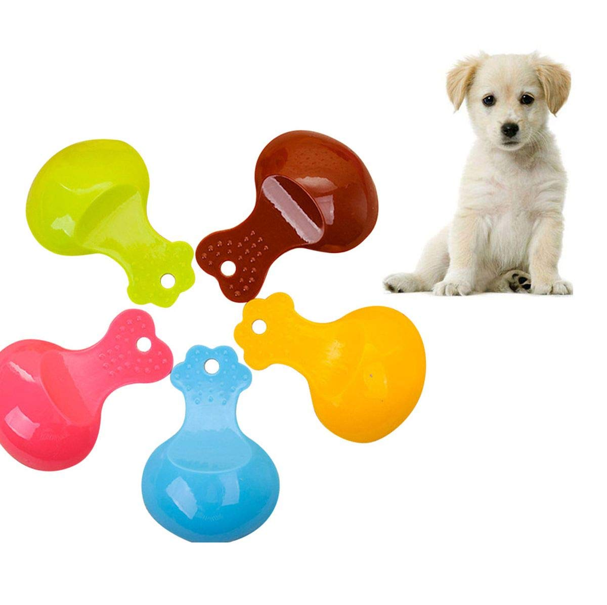 Meiliwanju Pet Food Scoops, Dog Food Plastic Scoop Candy Color Great for Dog, Cat and Bird Food (Random, One Size)