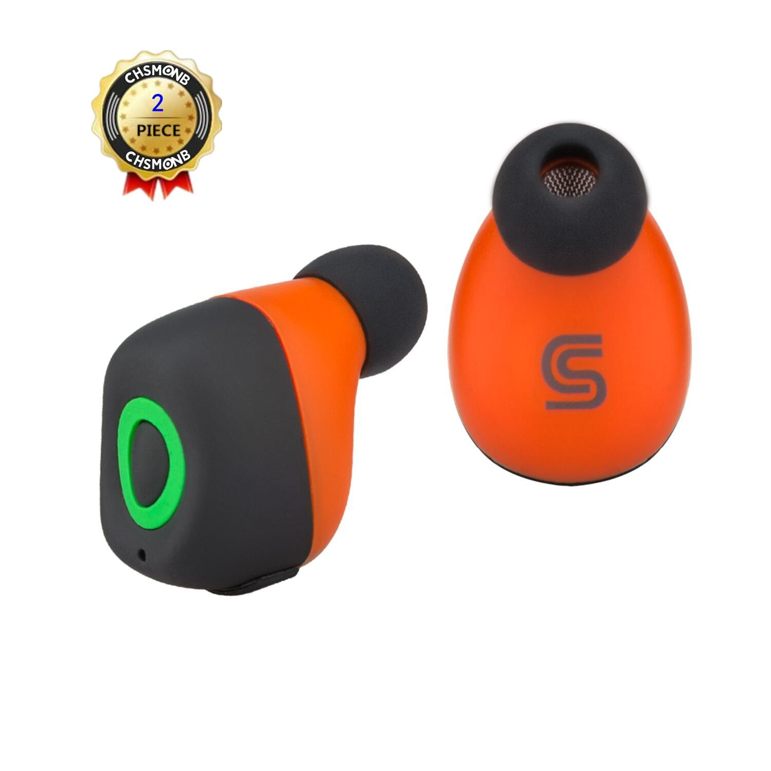 85%OFF Bluetooth Earbuds, CHSMONB True Wireless Earbuds Noise Isolation Stereo Wireless Earphones with Mic Dual In-ear Buds Wireless Bluetooth Headphones for Smart Phones and Other Bluetooth Devices(Black)
