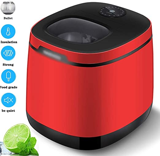 Amazon Com Joygood Ice Shaving Machine 25kg 24h Bullet Ice Machine Small Energy Saving 105w Electrical Appliances Commercial Fast Refrigerator Color Red Size 34 54034 8cm Home Kitchen