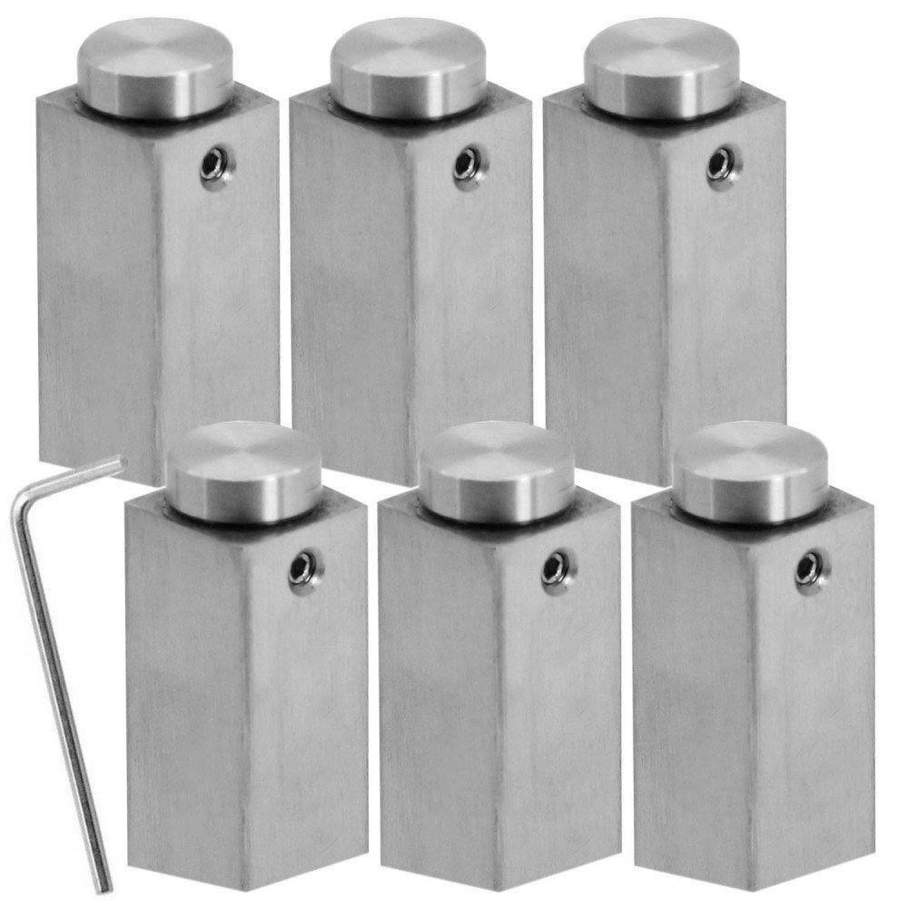 Set Kit 4x ou 6x Entretoise Mur Spacer Acier Inoxydable Fixation Montage Pour Verre Acrylique Carr/é+Rond mod/èle:6 St/ück 6 pieces 1.8cm x 1.8cm x 5cm