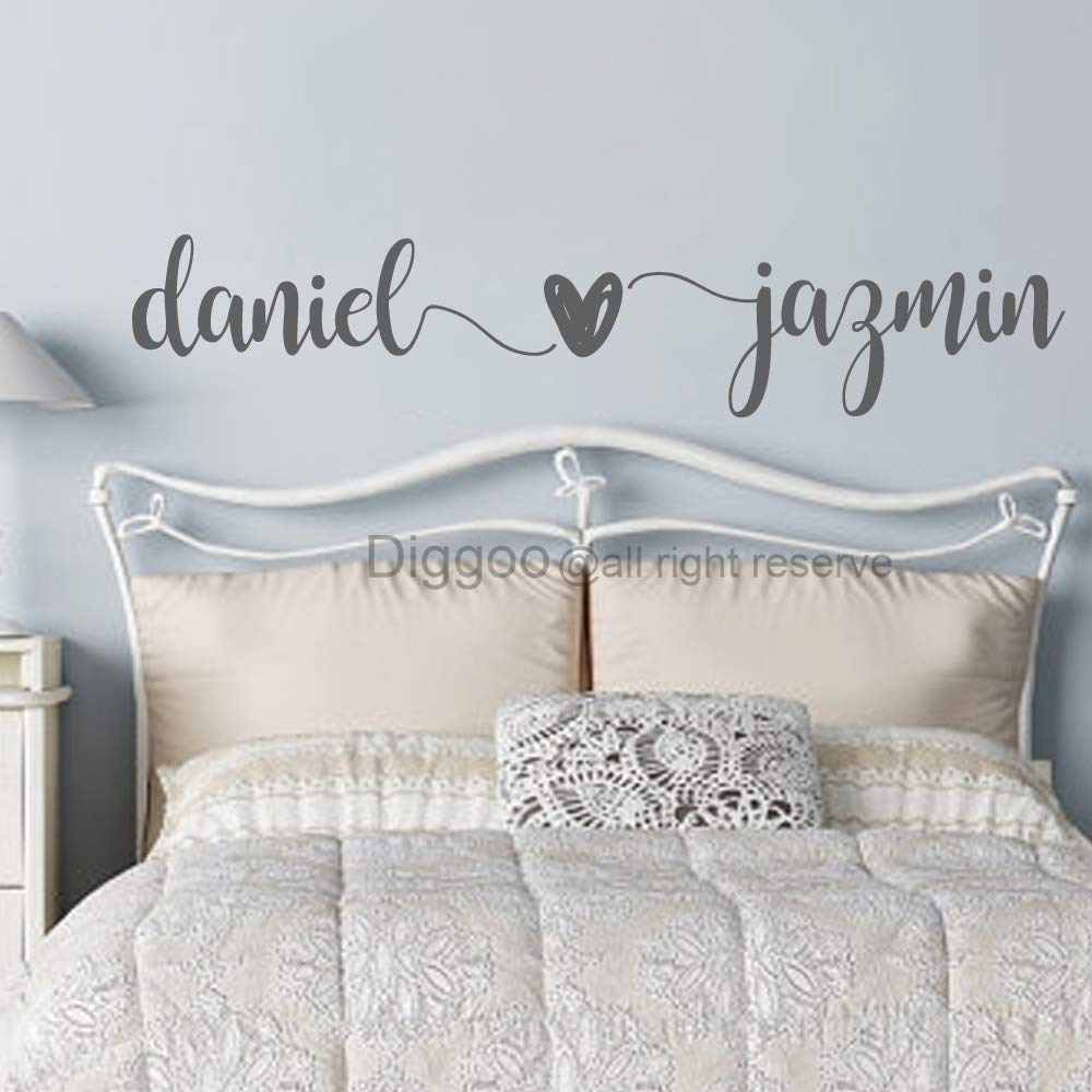 Amazon.com: Custom Couple Names Wall Decal Husband Wife Names Decal ...