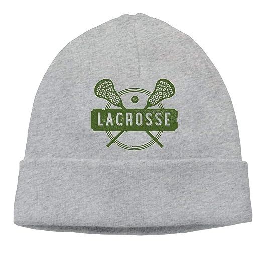 932577aa029 Amazon.com  Ghhpws Lacrosse Beanie Wool Hats Knit Skull Caps Warm Winter  Beanies for Men Women Ash  Clothing