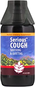 WishGarden Herbs - Serious Cough, Organic Herbal Cough Suppressant Supplement, Soothes and Calms Common Throat and bronchial Irritation (4 oz)