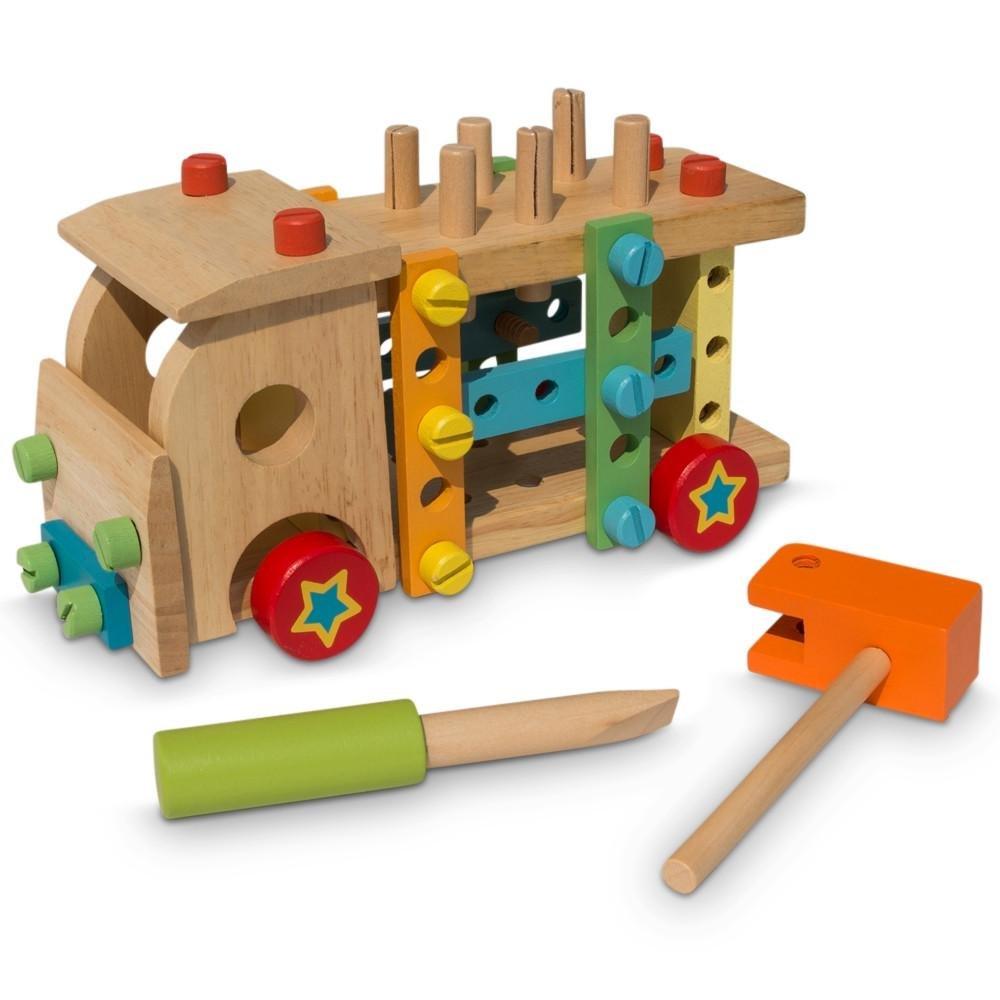 BestPysanky Set of Wooden Truck with Building Tools