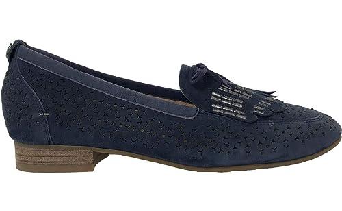 Mamzelle - Mocasines de Terciopelo Mujer, Azul (Azul Marino), 36 EU: Amazon.es: Zapatos y complementos