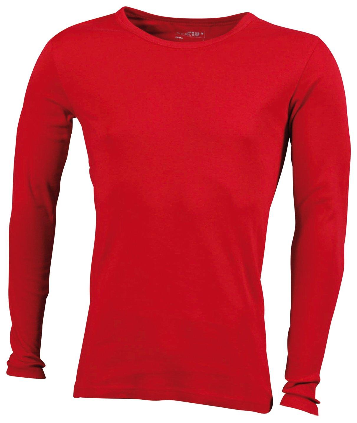 James & Nicholson Herren Langarmshirt Shirt Longsleeve: Amazon.de:  Bekleidung