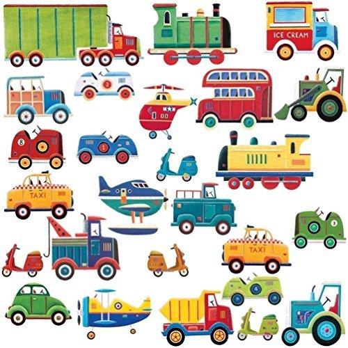 Lunarland CARS TRUCKS 26 Wall Stickers Decor Decals Room Decor Nursery Planes Tractor (Truck Decal Sheet)