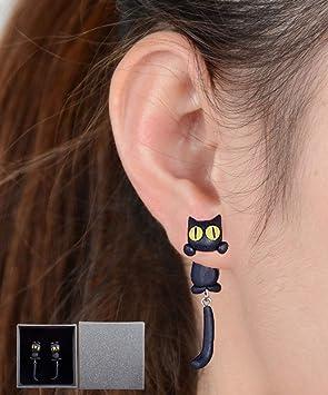 Gudotra Pendientes de Joyería de Mujer Pendientes de Gato del Aretes Dibujos Animados Retro: Amazon.es: Juguetes y juegos