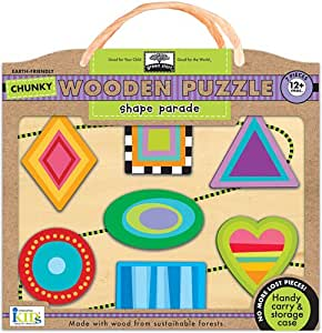 Amazon.com: Innovative Kids Green Start Chunky Wooden ...
