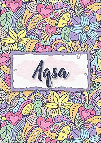 Aqsa: Notebook A5 | Personalized name Aqsa