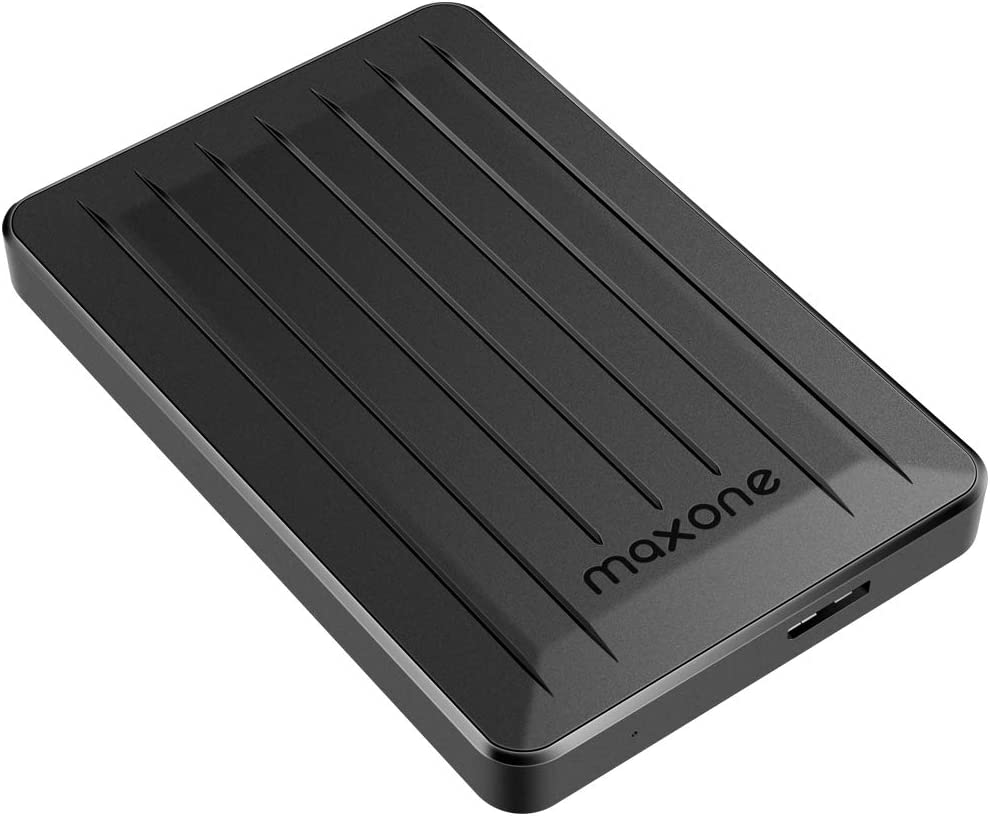 160GB External Hard Drive - Maxone Upgrade 2.5'' Portable HDD USB 3.0 for PC, Laptop, Mac, Chromebook, Smart TV - Black