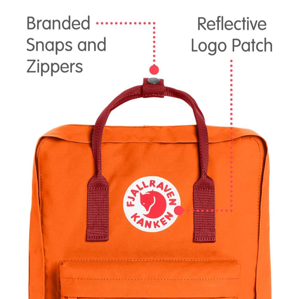 Fjallraven - Kanken Classic Backpack for Everyday, Burnt Orange/Deep Red by Fjallraven (Image #2)